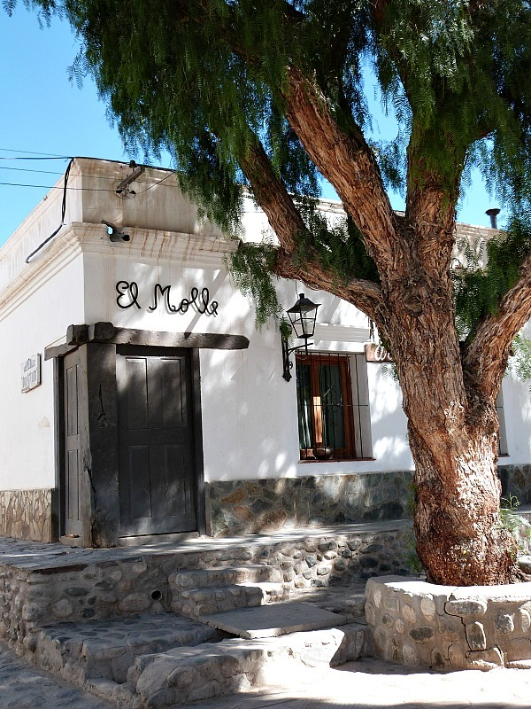 Whitewashed building in Cachi, Northern Argentina