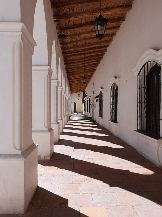 Covered walkway in Cachi, Northern Argentina