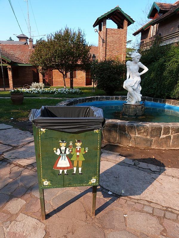 Fountain in downtown Villa General Belgrano in Northern Argentina
