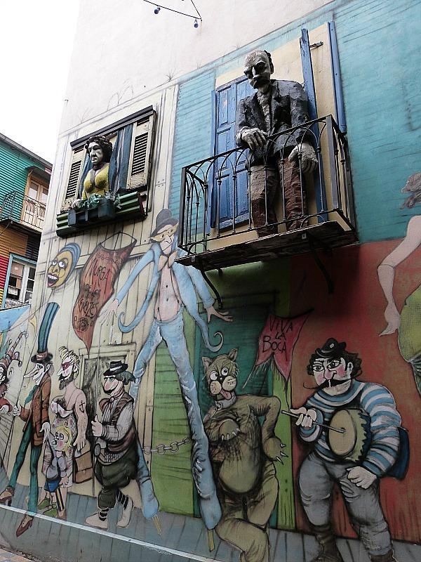 Street art in La Boca, Buenos Aires