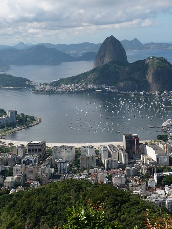 Views from Christ the Redeemer over Rio