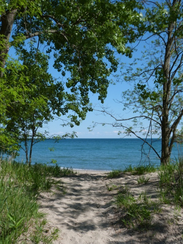 Beach on Centre Island in Toronto