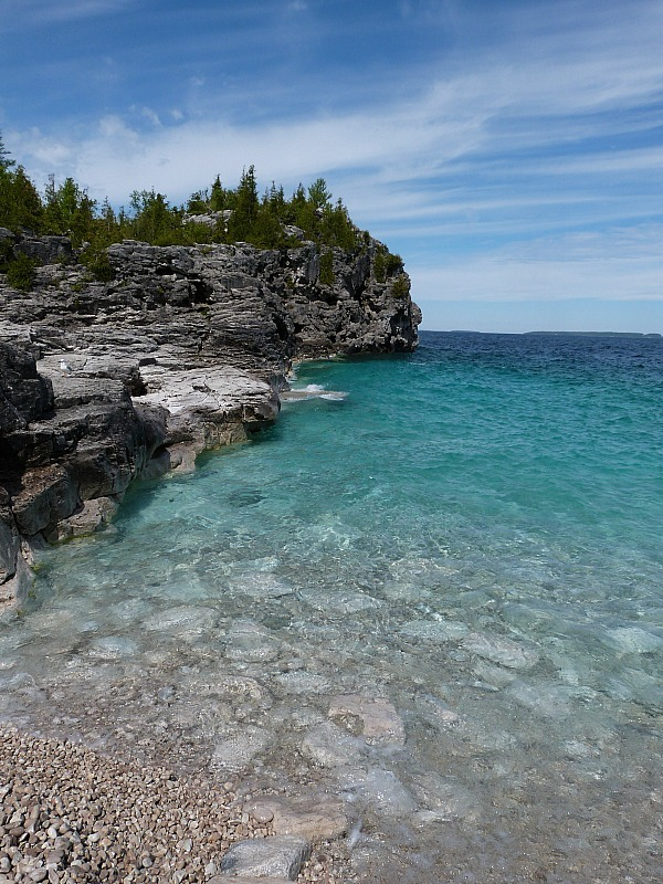 Georgian Bay at Tobymory on a Great Lakes Road Trip in Canada