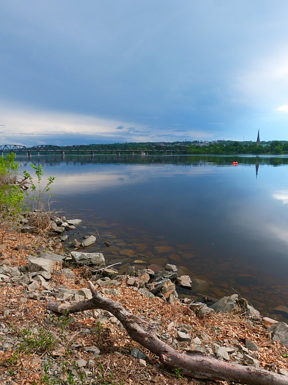 The river in Fredericton, New Brunswick