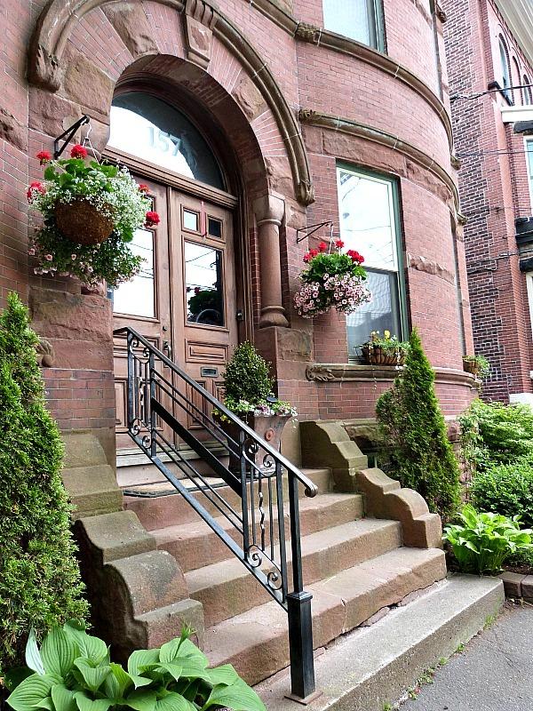 Historic buildings in downtown Saint Johns, New Brunswick