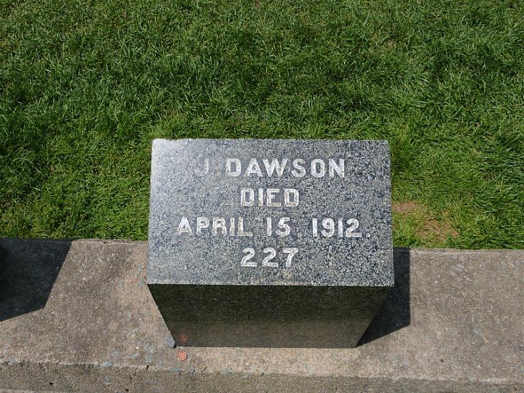Grave of Titanic victim in Fairview Lawn Cemetery in Halifax, Nova Scotia