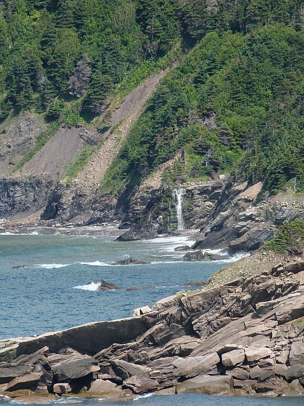 Wild coastline around Meat Cove on Cape Breton Island, Nova Scotia