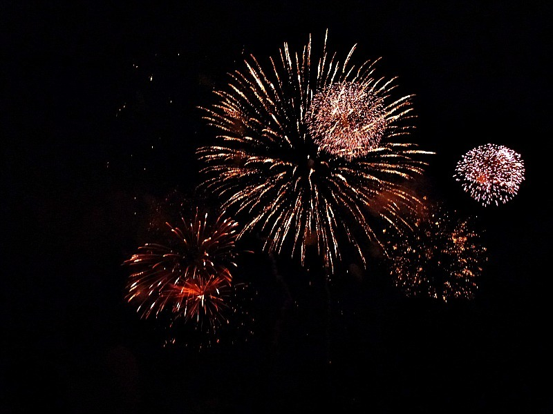Canada Day fireworks display in Charlottetown, Prince Edward Island
