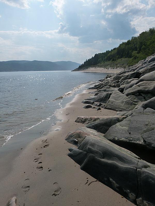 Coast in Tadoussac, Quebec