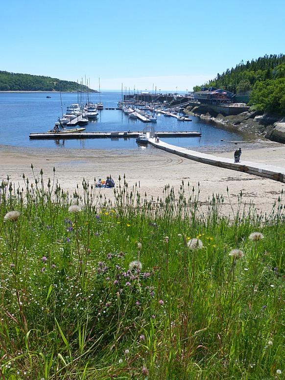 Beautiful Tadoussac Harbour in Quebec, Canada