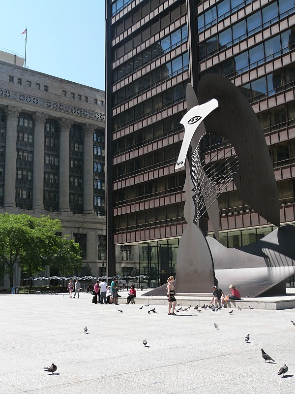 Modern art in downtown Chicago