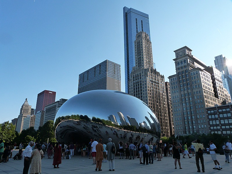 The Bean in Millennium Park in Chicago