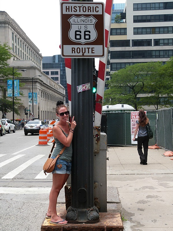 At the beginning of Route 66 in Chicago