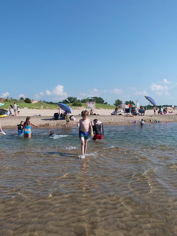 Swimming in Lake Michigan in New Brighton