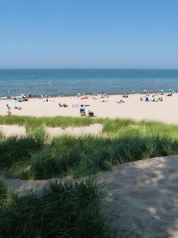 Beach bumming in Indiana Dunes
