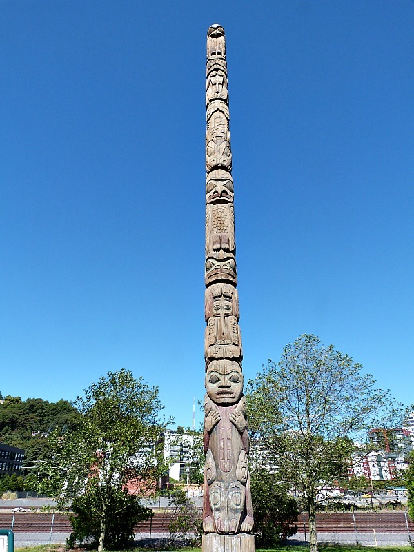 Totem at Sculpture Park on the Seattle Waterfront