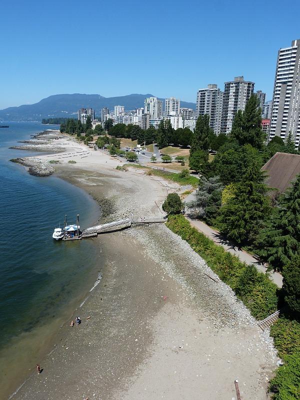 View of False Creek in Vancouver, Canada from Burrard Bridge