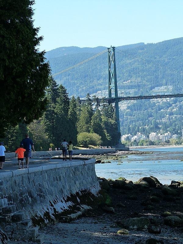Walking the seawall in Stanley Park, Vancouver