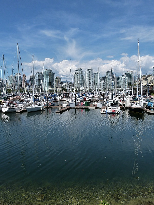 Boats in harbour in Vancouver