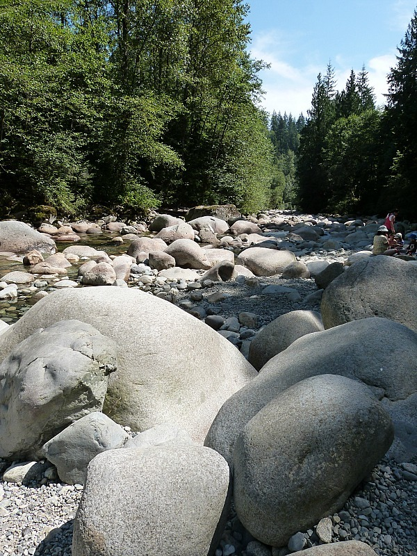 River in Lynn Canyon in North Vancouver
