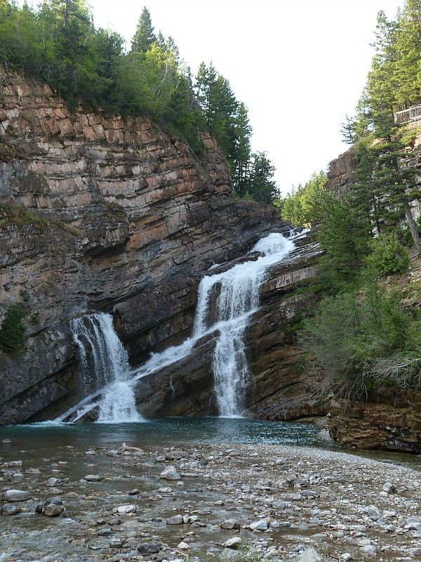 Waterfall in Waterton Lakes National Park in Canada