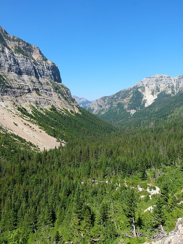 Amazing views while hiking the Crypt Lake Trail in Waterton Lakes National Park, Canada
