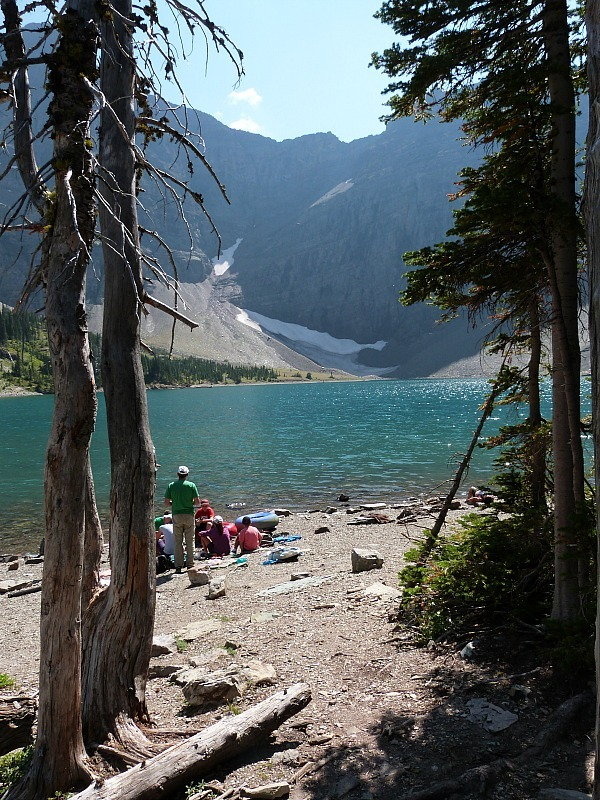 Beautiful Crypt Lake at the end of the Crypt Lake Hike in Waterton Lakes National Park, Canada