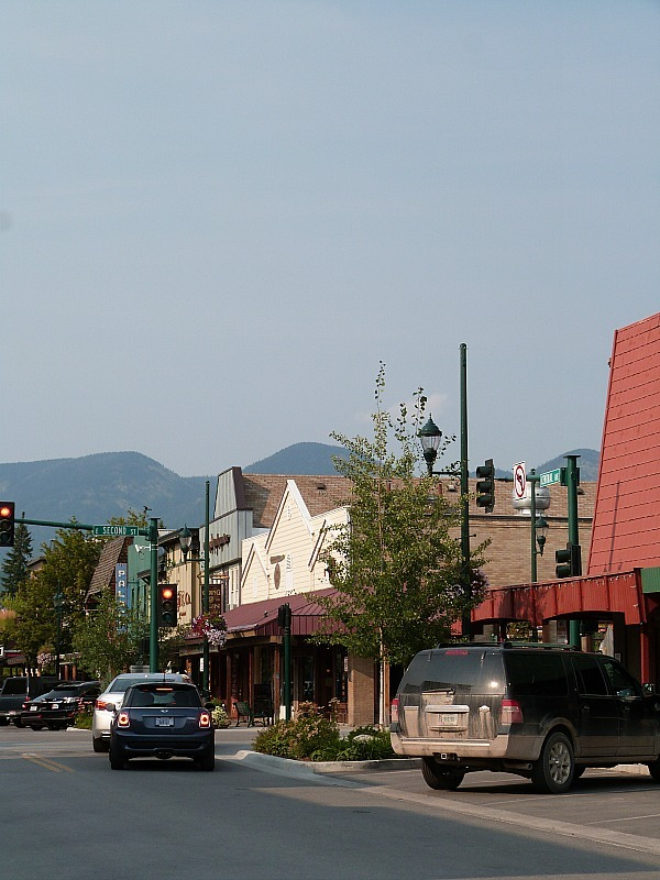 Downtown Whitefish in Montana - a Rocky Mountain Road Trip must