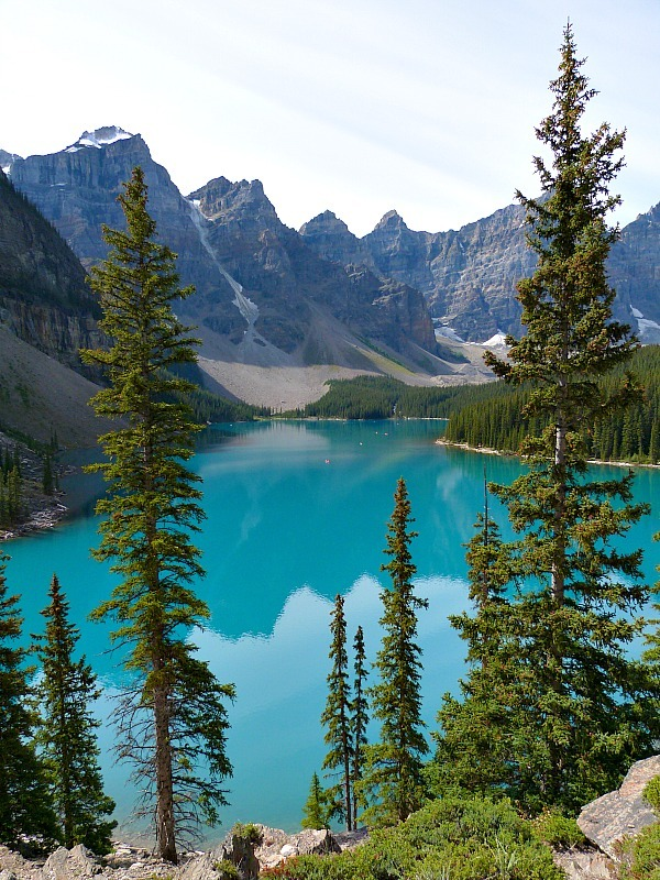 Moraine Lake in Banff National Park, Canada - a Rocky Mountain Road Trip must