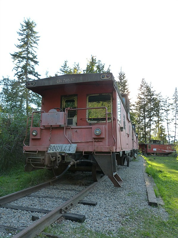 The train carriage hostel dorms at the Squilax HI Hostel where I did a Help X Placement in Canada