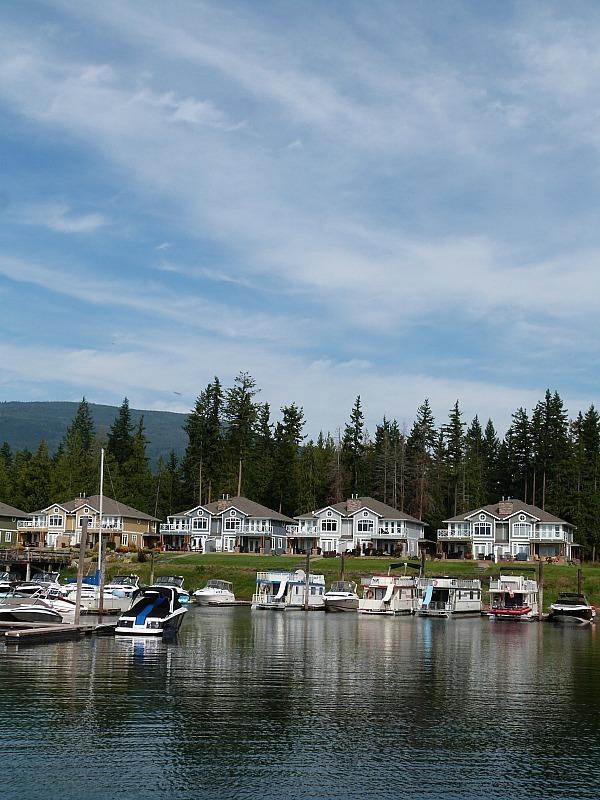 Salmon Arm in the Shuswap Lake Region of British Columbia, Canada
