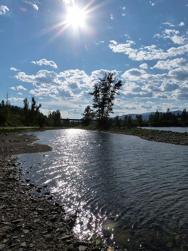 The river out the back of the Squilax hostel in Shuswap Lake where I did a Help X placement