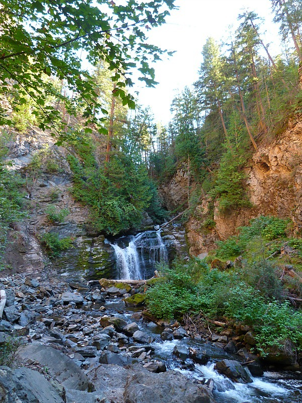 Chase Falls in the Shuswap Lake Region of British Columbia