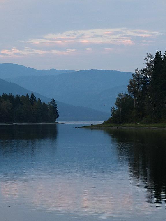 Shuswap Lake in British Columbia, Canada