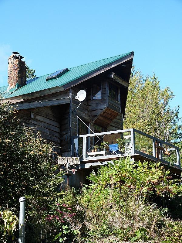 A local house on Denman Island in Canada