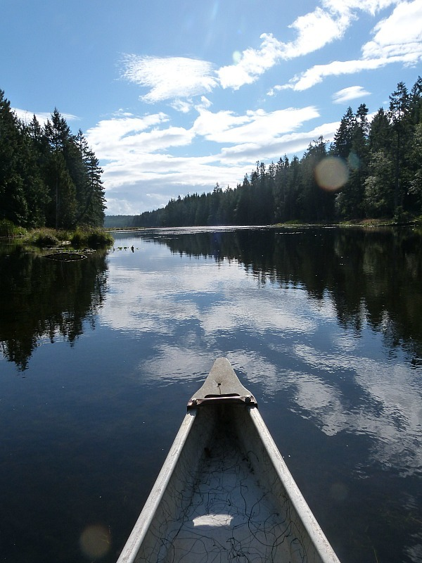 Kayaking on Denman Island in Canada