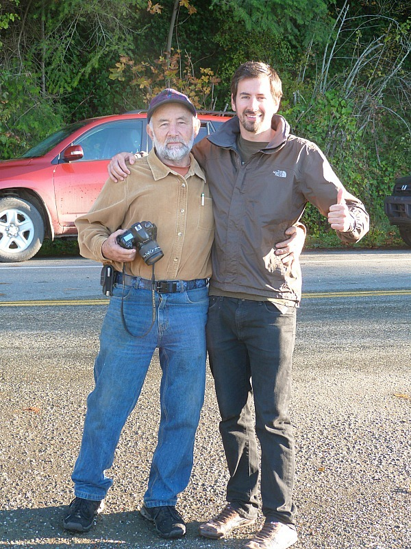 Trav and our Help X Host on Denman Island in Canada