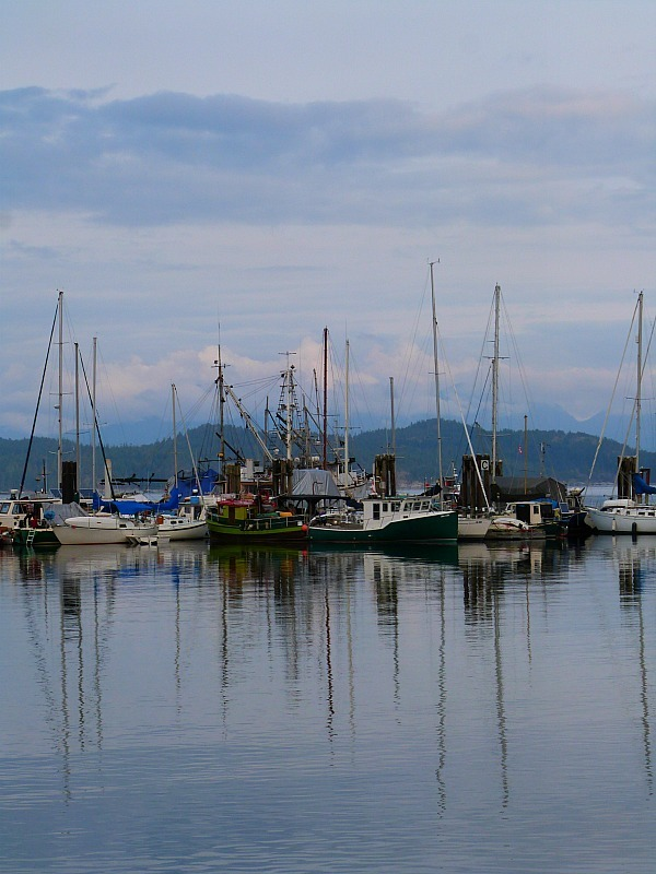 Heriot Bay Marina on Quadra Island, Canada
