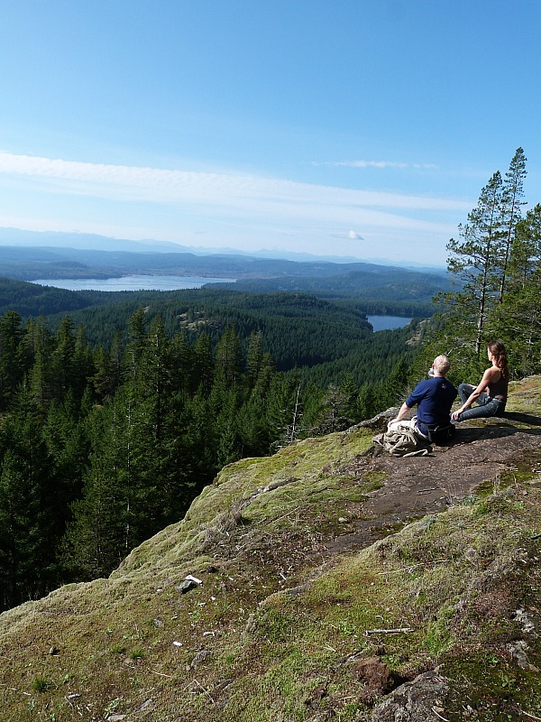 View from Chinese Mountain on Quadra Island, Canada