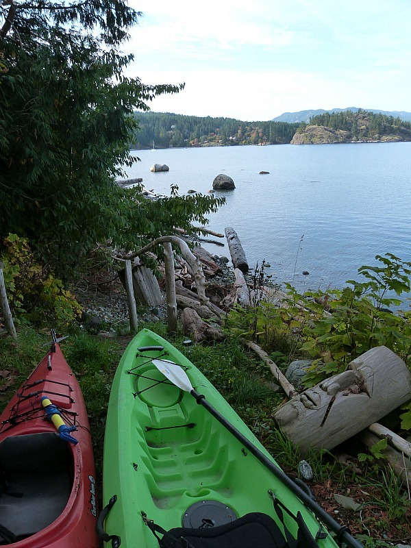 Kayaking Quadra Island in Canada