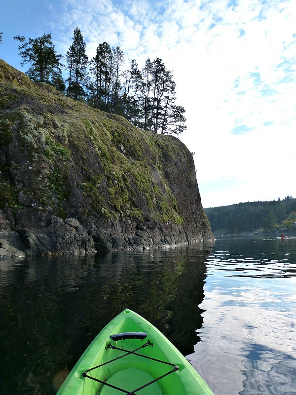 Kayaking in Heriot Bay, Quadra Island
