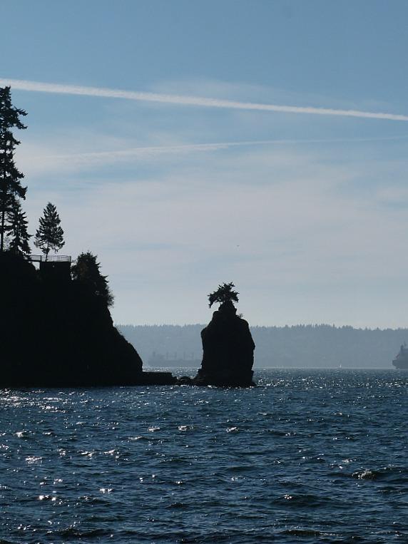 Siwash Rock in Stanley Park, Vancouver