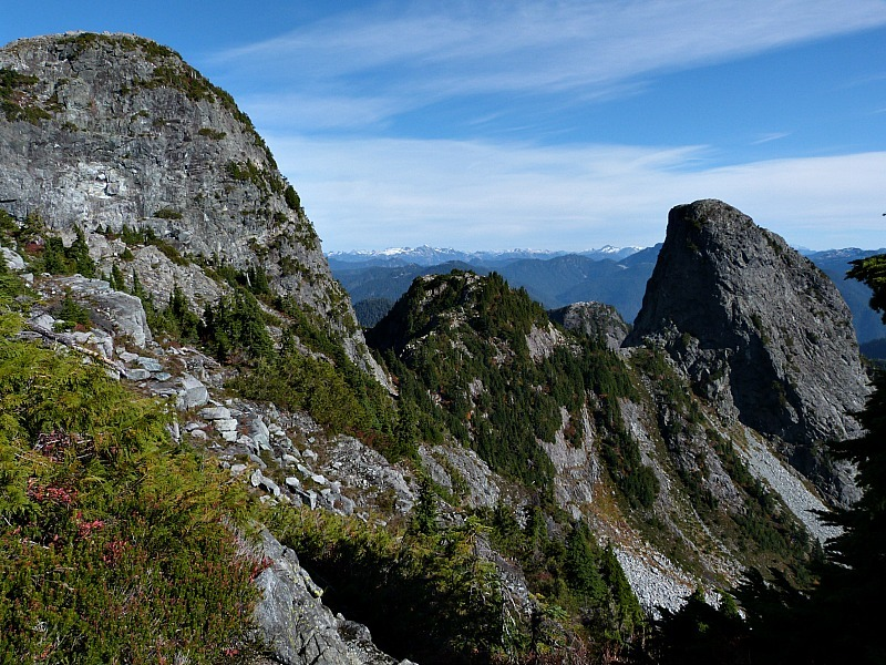 Hiking to the Lions in the mountains near Vancouver, Canada
