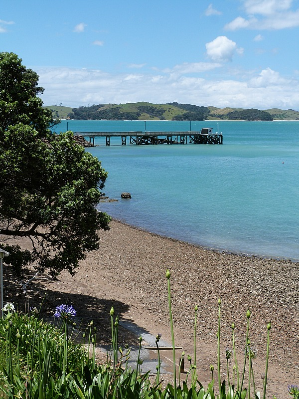 Beautiful coastline on Waiheke Island in New Zealand