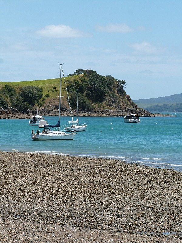Matiatia Beach on Waiheke Island in Auckland, New Zealand