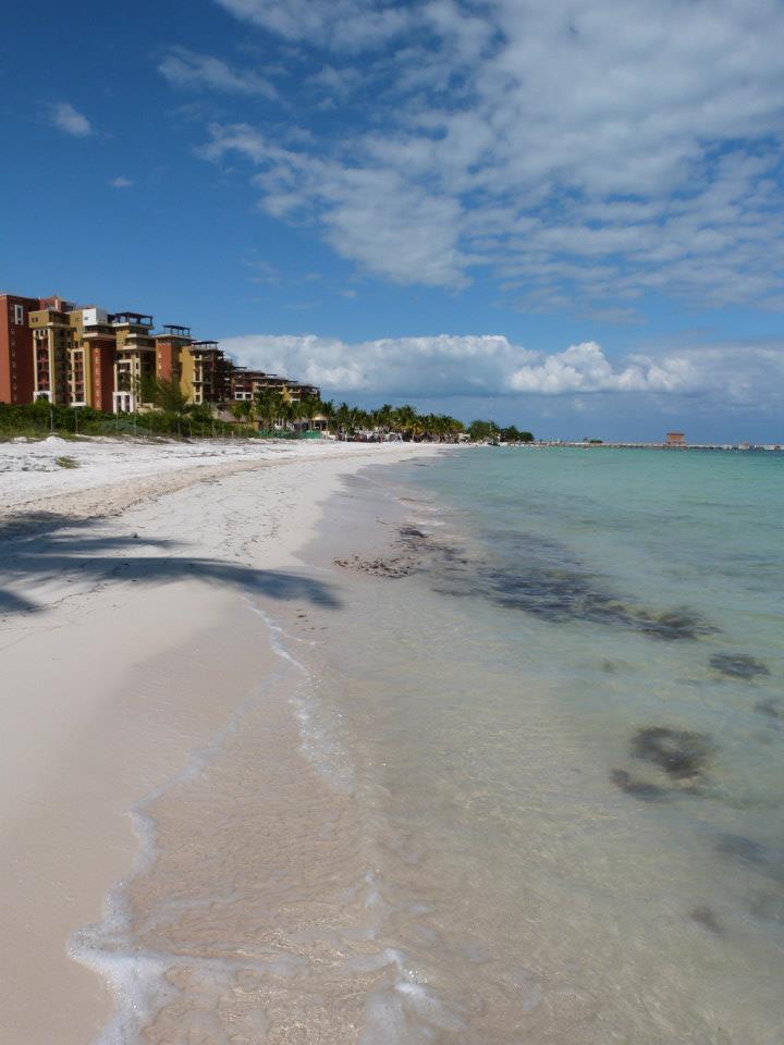 Punta Sam beach on the Yucatan Coast of Mexico