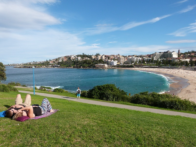 Looking out over Coogee Beach in Sydney's Eastern Beaches