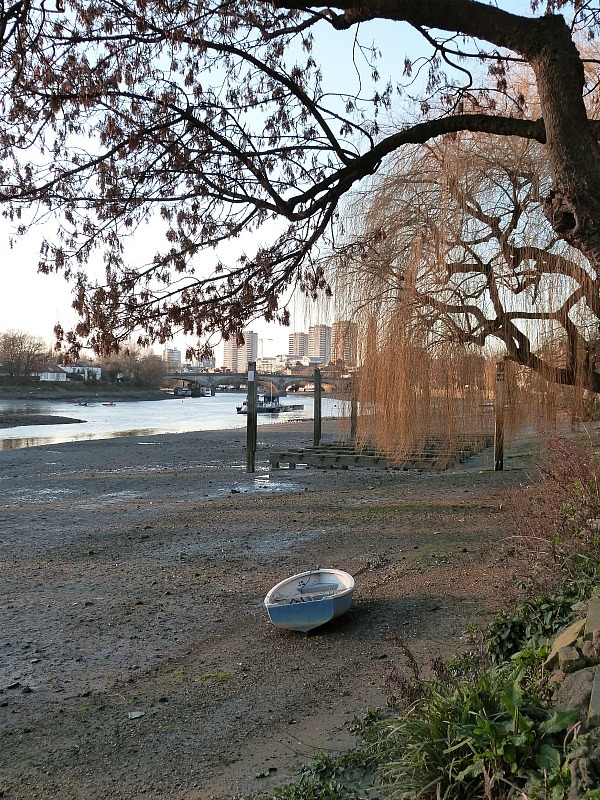 Kew Bridge riverside in Greater London