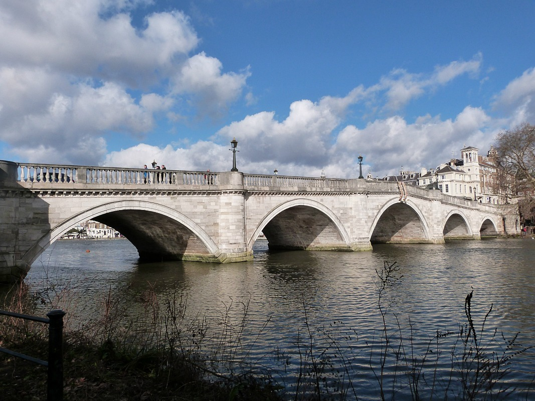 Historic Richmond Bridge in Richmond, Greater London