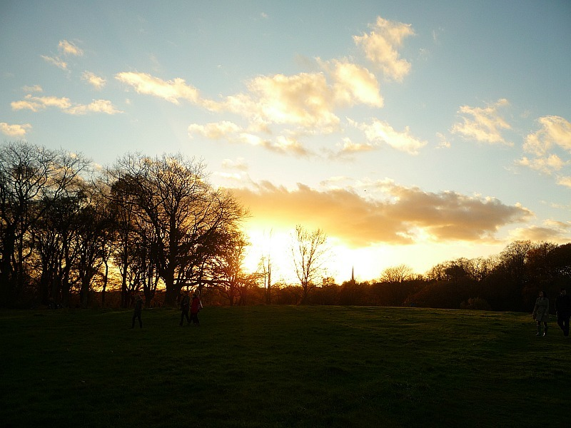 Sunset in Richmond, London